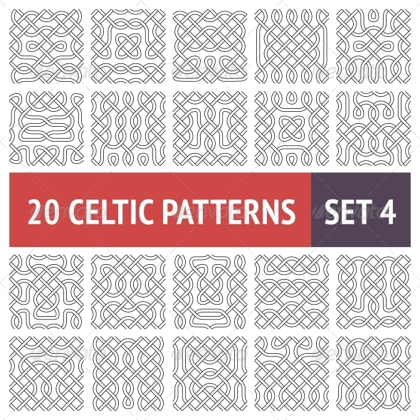 GraphicRiver Celtic Patterns Set 6346014