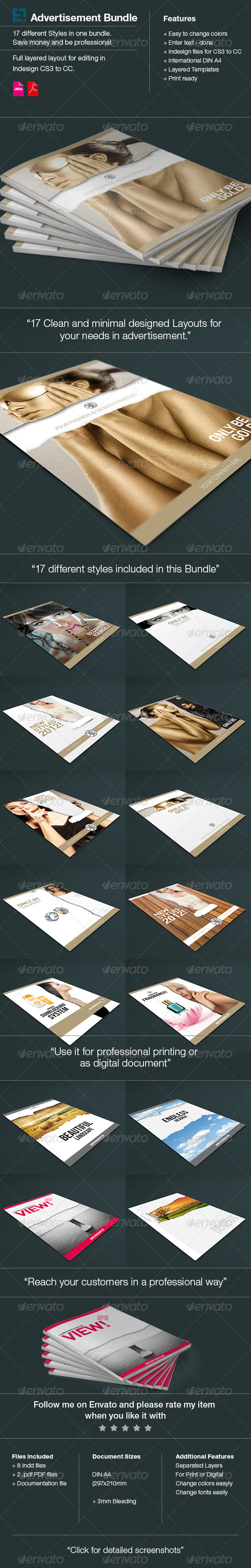GraphicRiver 17 Layouts Advertisments Bundle 6346092