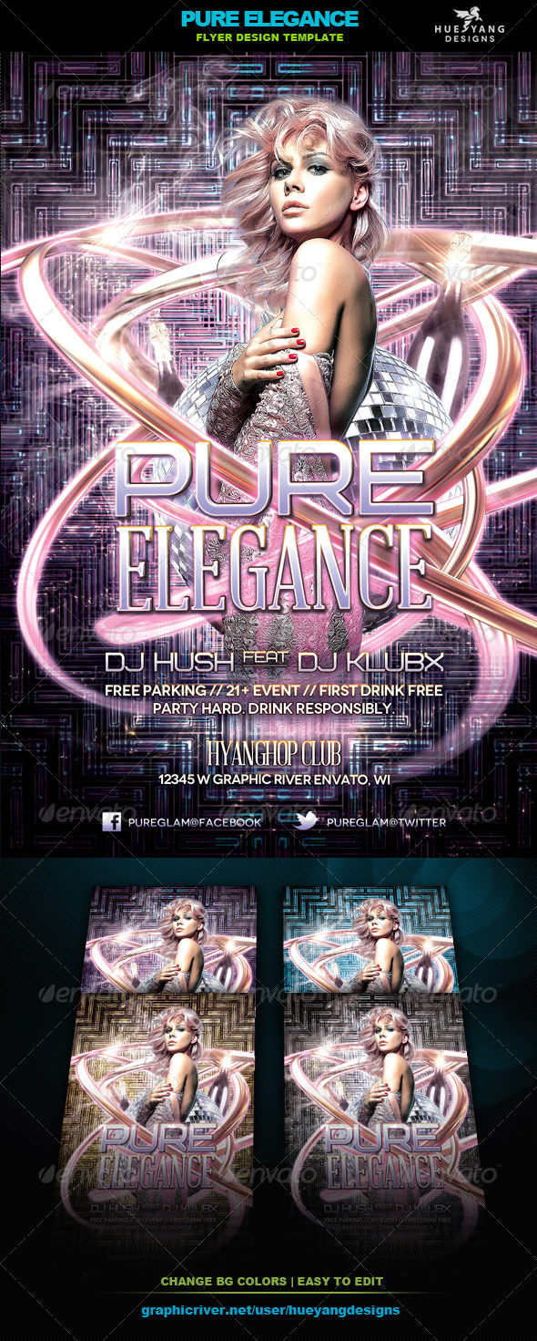 Pure Elegance Flyer - Clubs & Parties Events