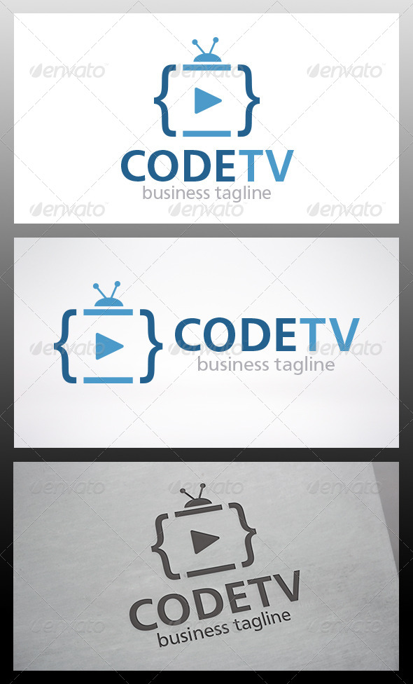 GraphicRiver Code Tv Logo 6346206
