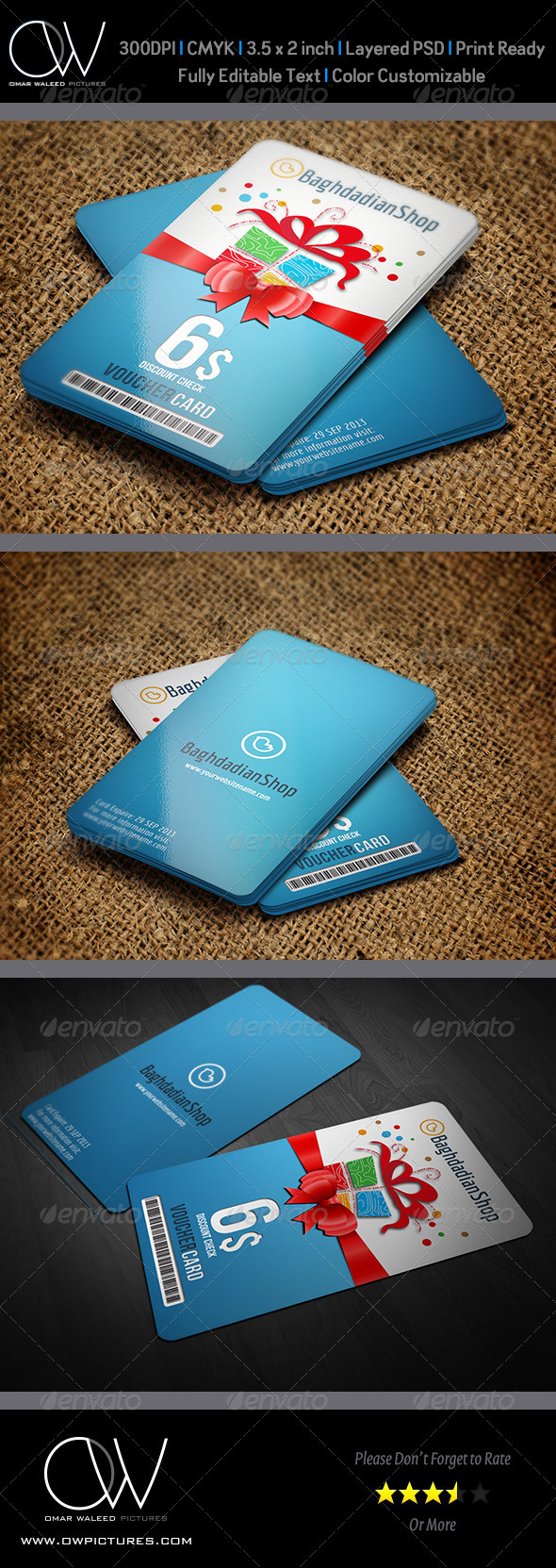 GraphicRiver Gift Voucher Card Template Vol 8 6346401