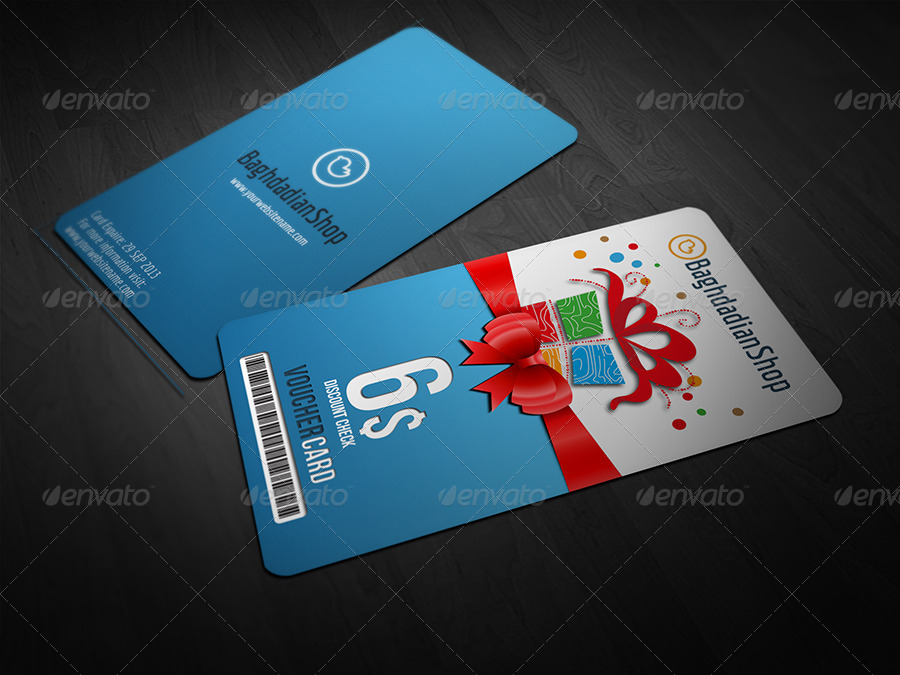 Gift Voucher Card Template Vol 8 by OWPictures – Voucher Card Template