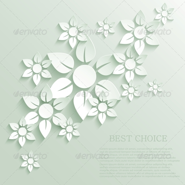 GraphicRiver Vector Flower Background 6346426