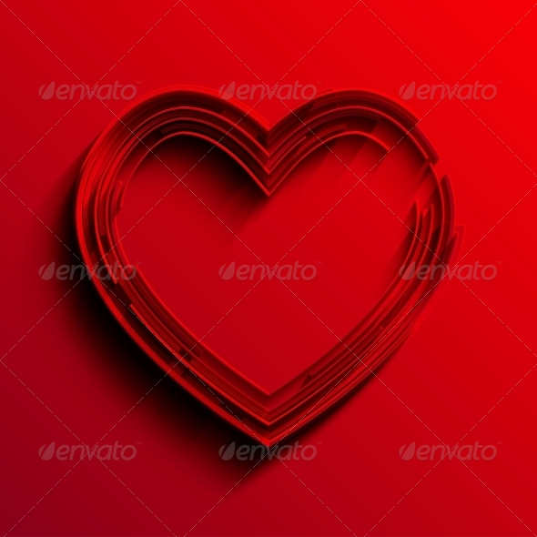 GraphicRiver Vector Heart Background 6346677