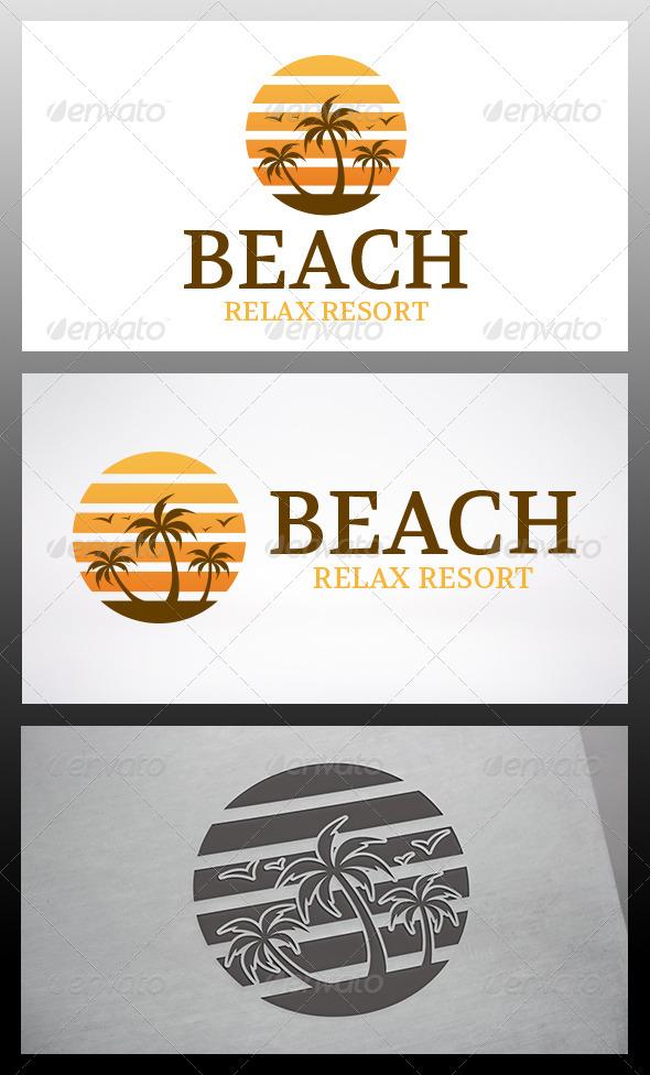 GraphicRiver Beach Logo 6346720