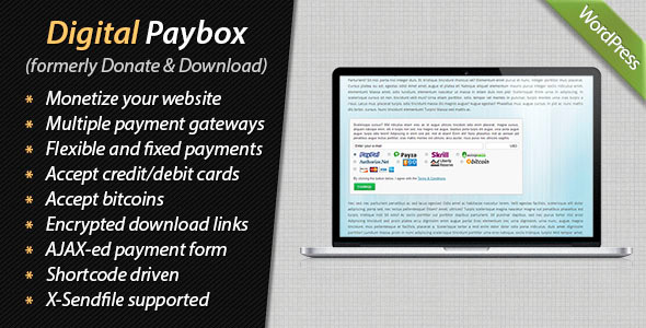 Digital Paybox - Pay and Download - CodeCanyon Item for Sale