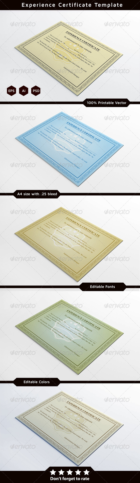 GraphicRiver Experience Certificates 6346742