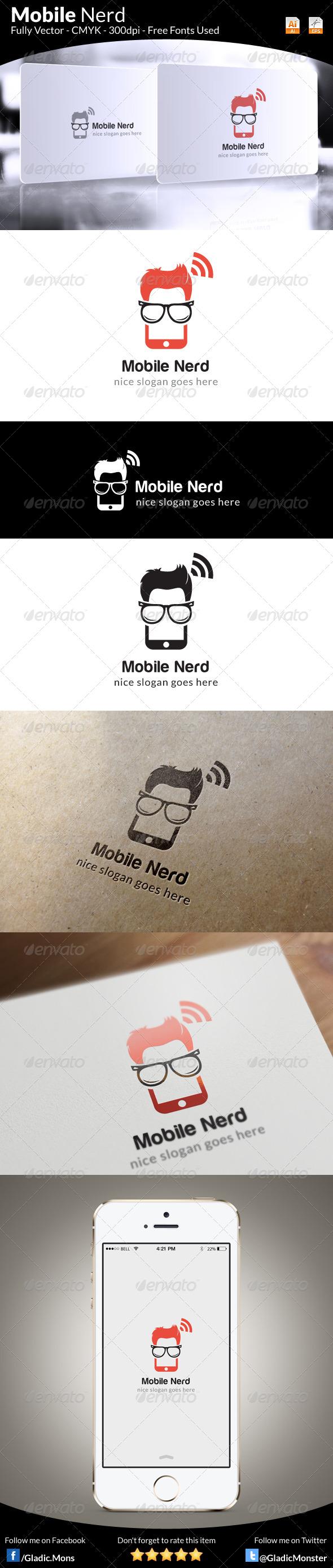 Mobile Nerd Logo Template - Symbols Logo Templates