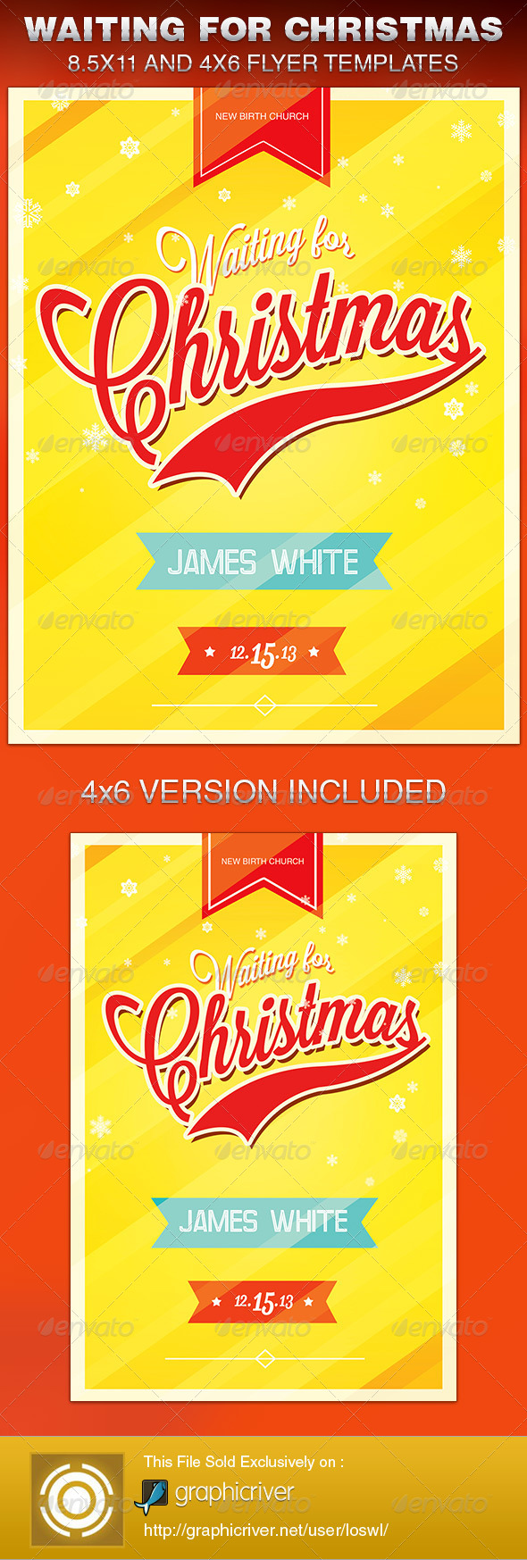 Waiting for Christmas Church Flyer Template - Church Flyers