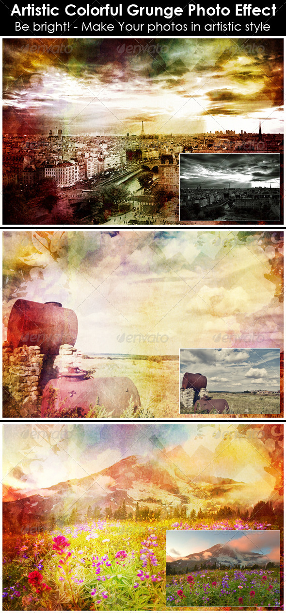 GraphicRiver Artistic Colorful Grunge Photo Effect 6347088
