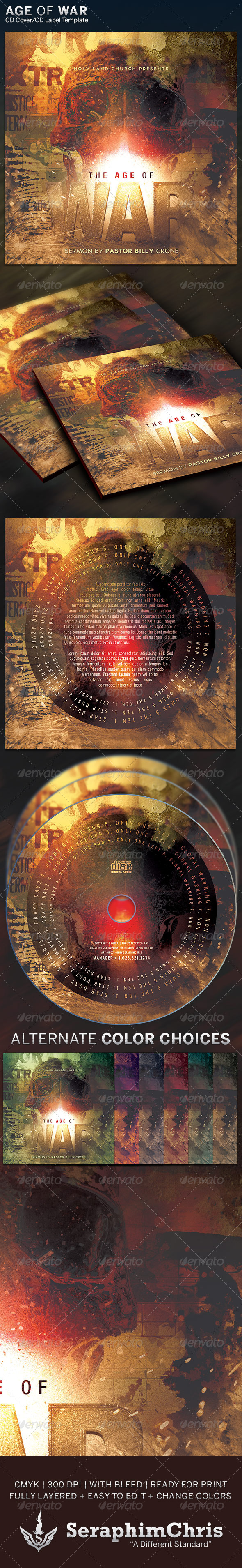 GraphicRiver Art of War CD Cover Artwork Template 6347102
