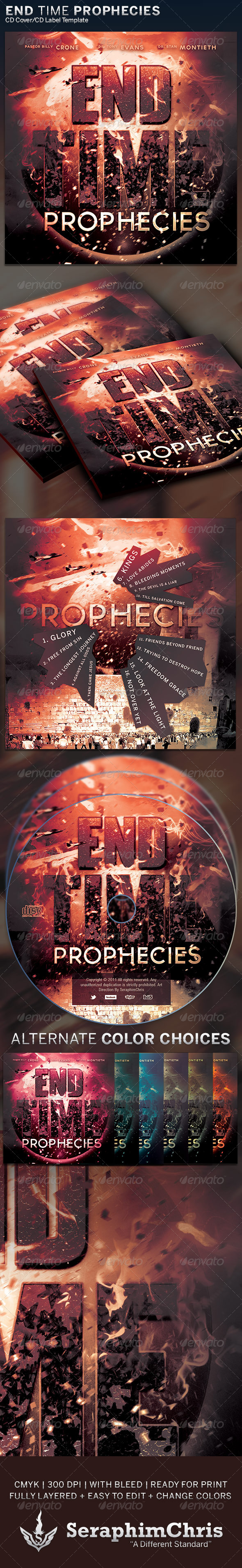 GraphicRiver End Time Prophecies CD Cover Artwork Template 6347432