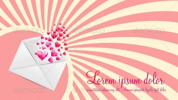 GraphicRiver Valentines Day Card with Heart Shaped Balloons 6347687