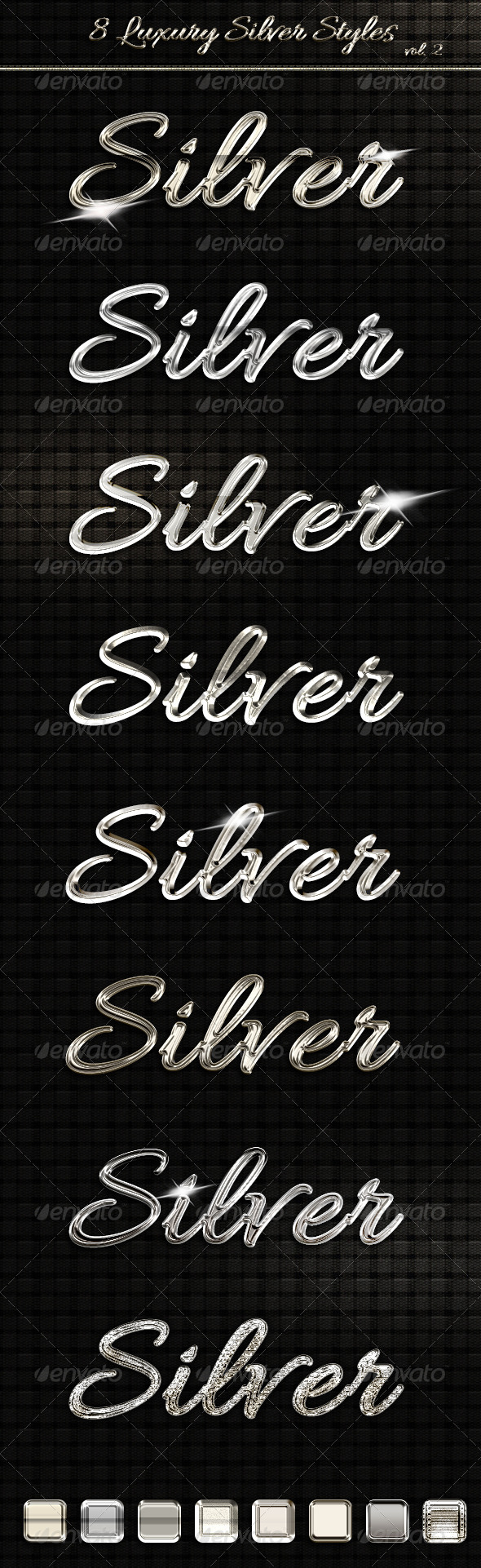 8 Luxury Silver Text Styles vol2 - Text Effects Styles