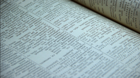 VideoHive Browsing Pages of Russian Ukrainian Dictionary 6347862