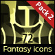 72 RPG Fantasy Spells Icons - GraphicRiver Item for Sale