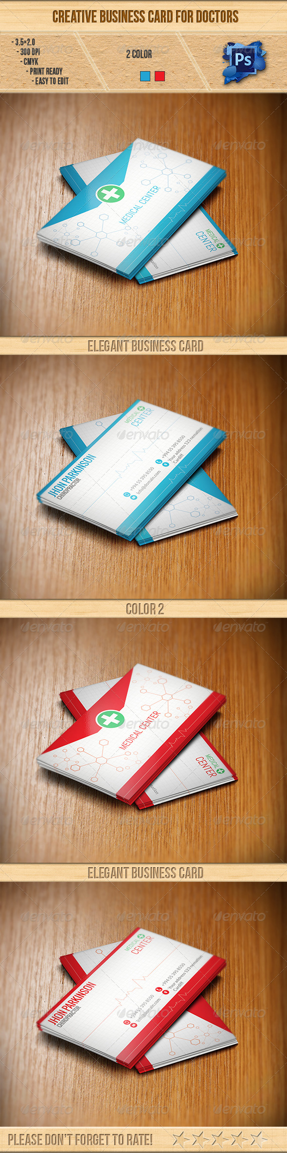 GraphicRiver Creative Business Card for Doctors 6347867