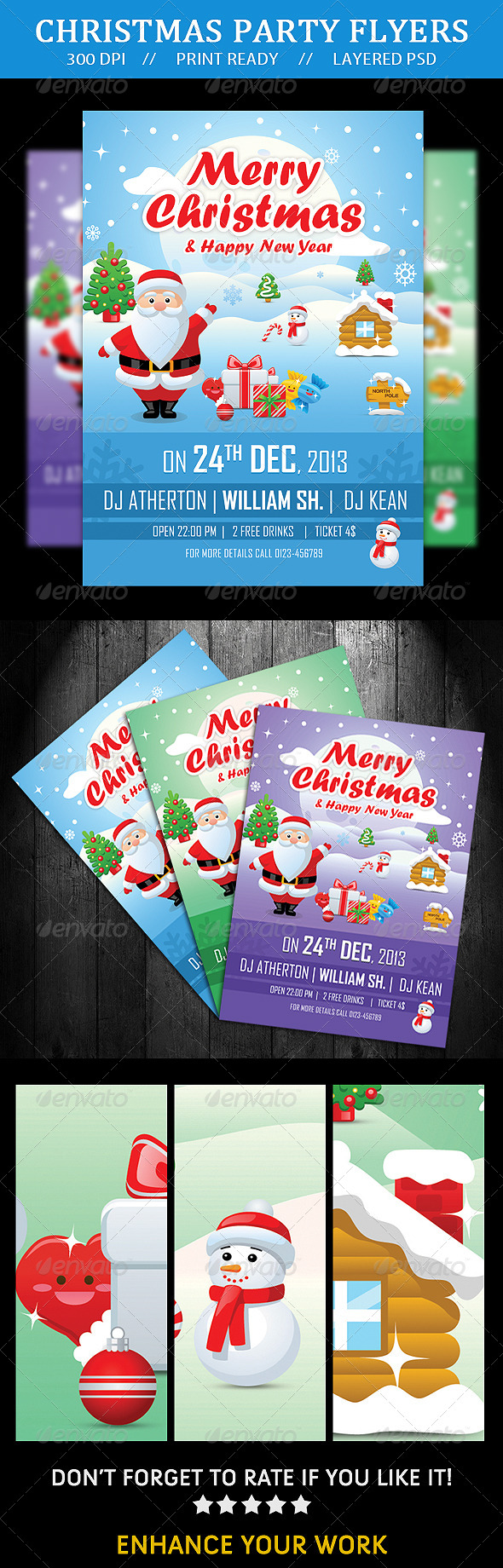 GraphicRiver Merry Christmas Flyer 6347920