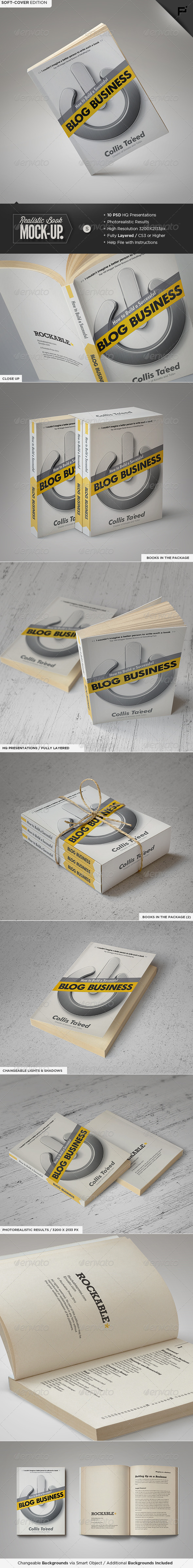 GraphicRiver Book Mock-Up Soft-Cover Edition 6347935
