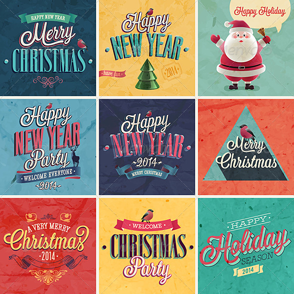 GraphicRiver Christmas Set of Emblems and Labels 6348030