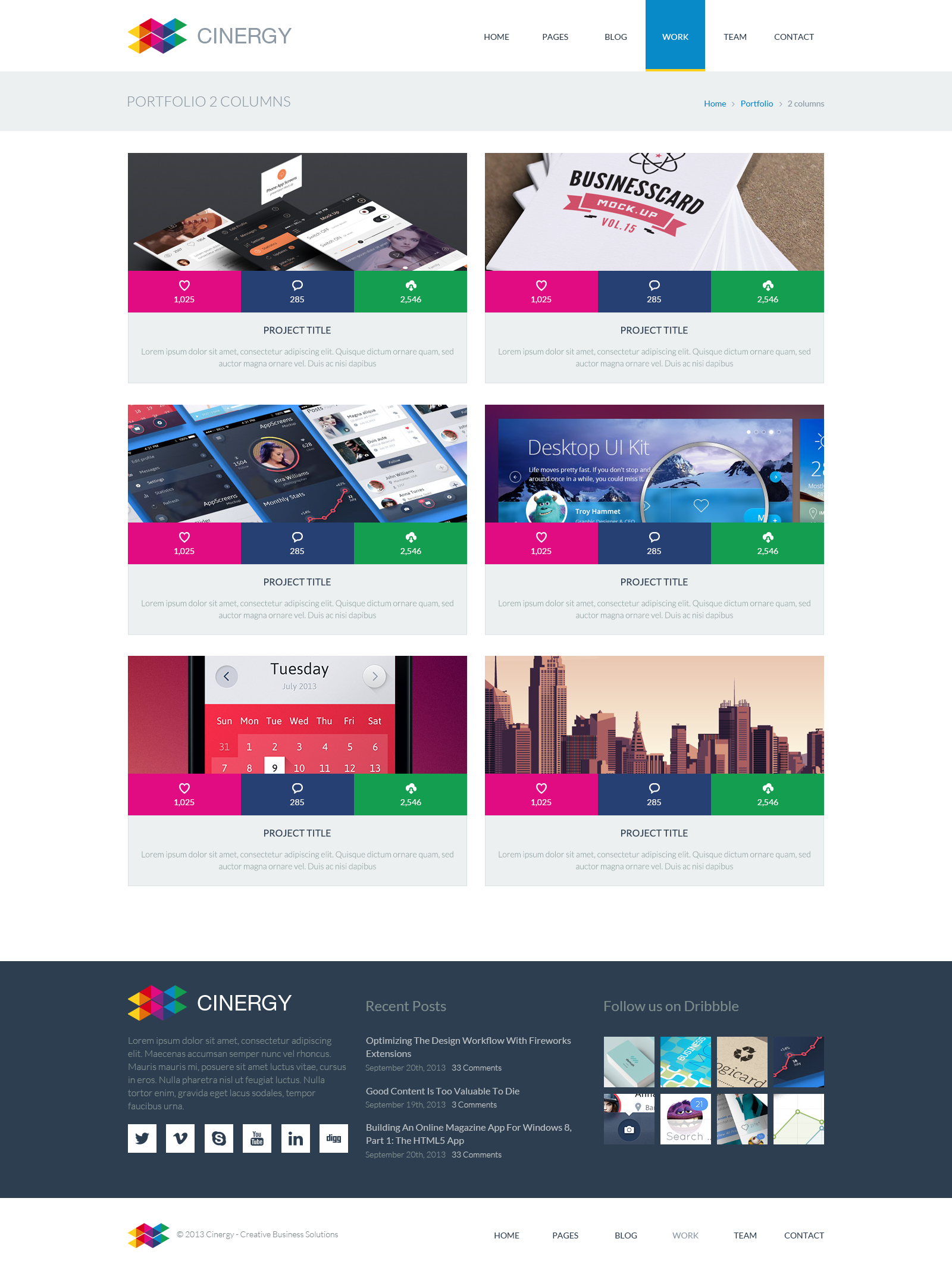 Cinergy - Modern Business HTML Template