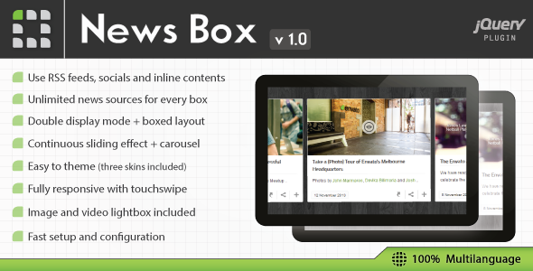 CodeCanyon News Box jQuery Contents Slider and Viewer 6348100