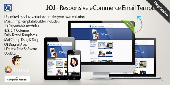 ThemeForest JOJ Responsive eshop Email Template 6348135