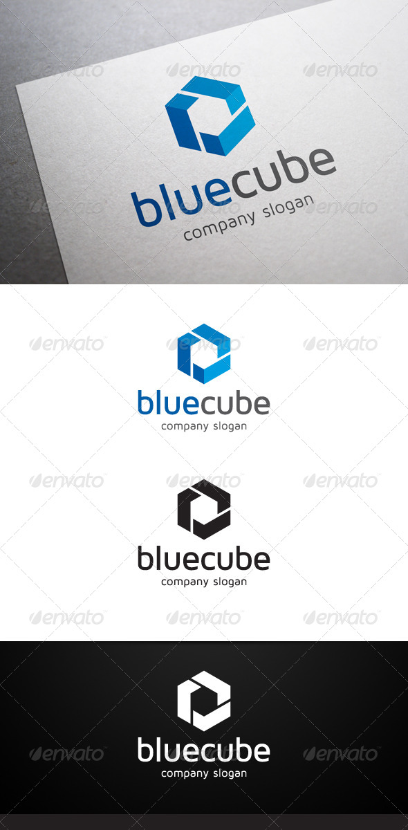 Blue Cube Logo - Abstract Logo Templates