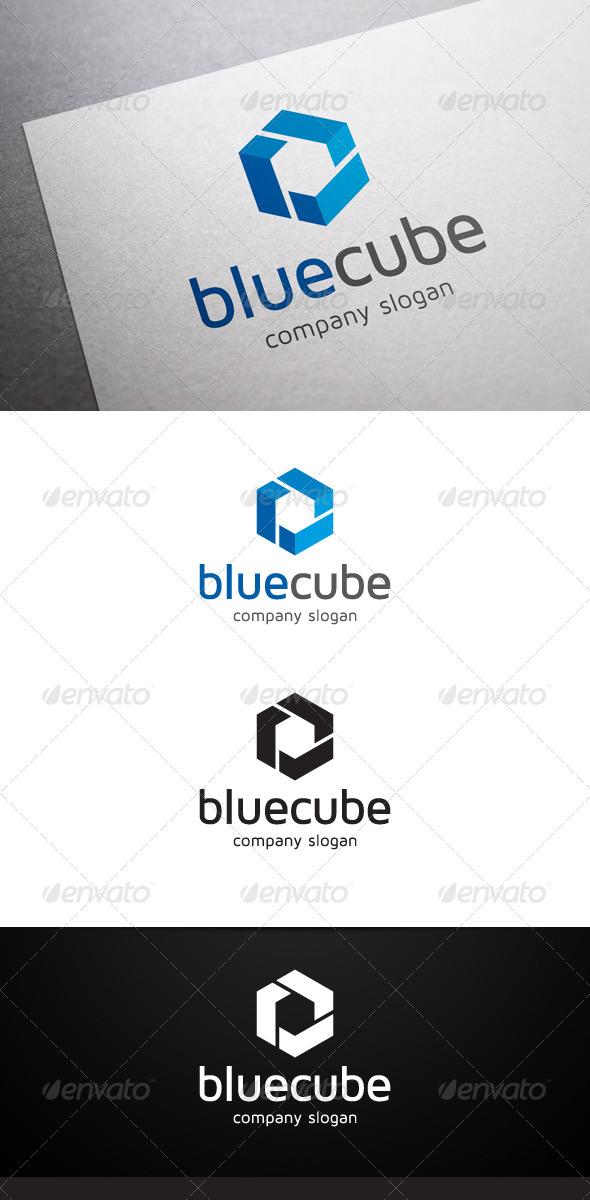 GraphicRiver Blue Cube Logo 6348141