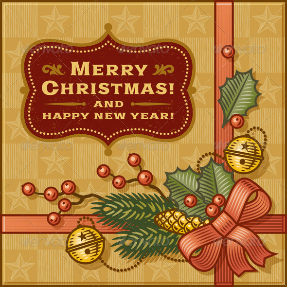 GraphicRiver Vintage Christmas Gift 6348150