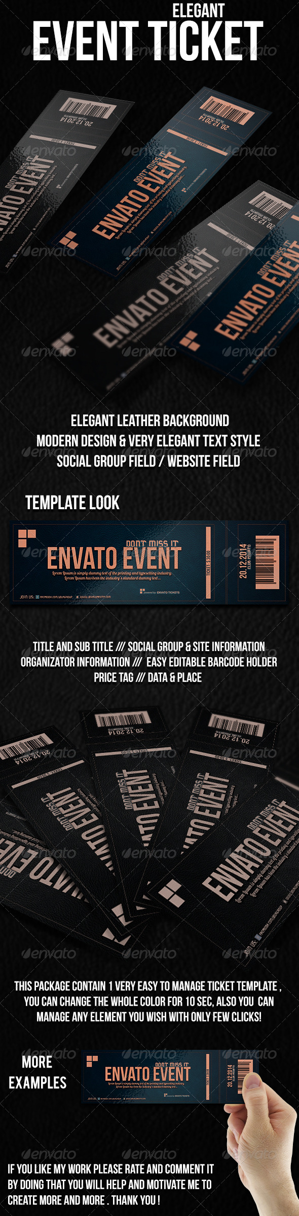 GraphicRiver Elegant Ticket Template 6348330