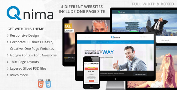 Qnima - Responsive MultiPurpose HTML5 Template