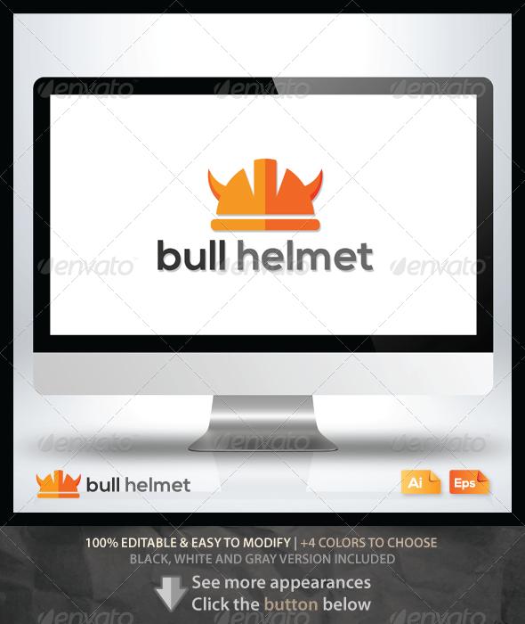GraphicRiver Bull Helmet 6348491