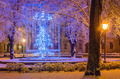 Christmas park with illuminations. - PhotoDune Item for Sale