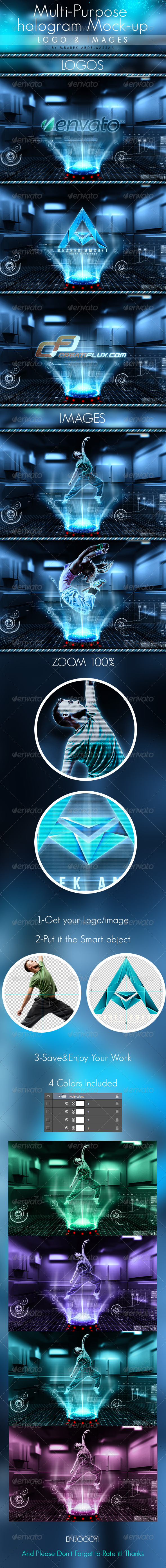 GraphicRiver Multi-purpose hologram mock-up 6348611