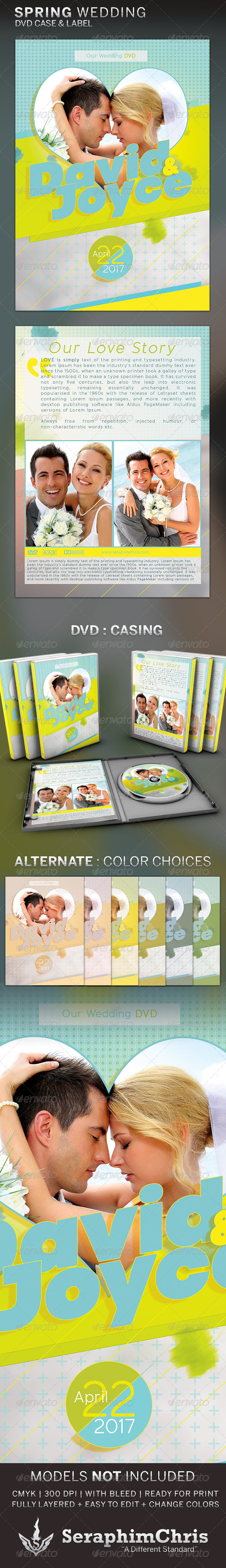Spring Wedding DVD Template