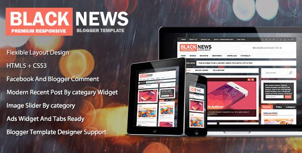 ThemeForest BlackNews News & Magazine Premium Blogger Theme 6349355