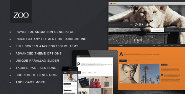 ThemeForest Zoo Responsive One Page Parallax Theme 6126764