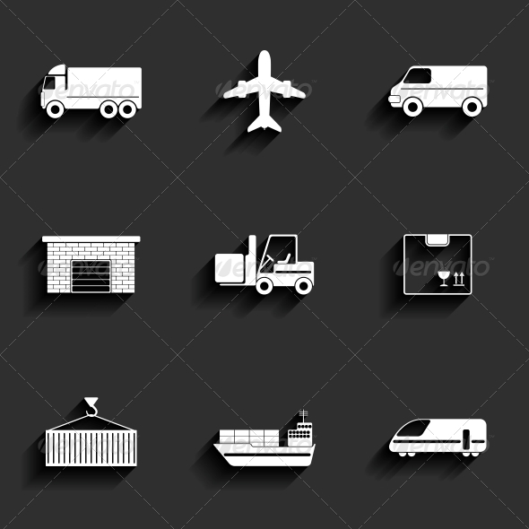 GraphicRiver Vehicle and Transport Flat Icons 6349480