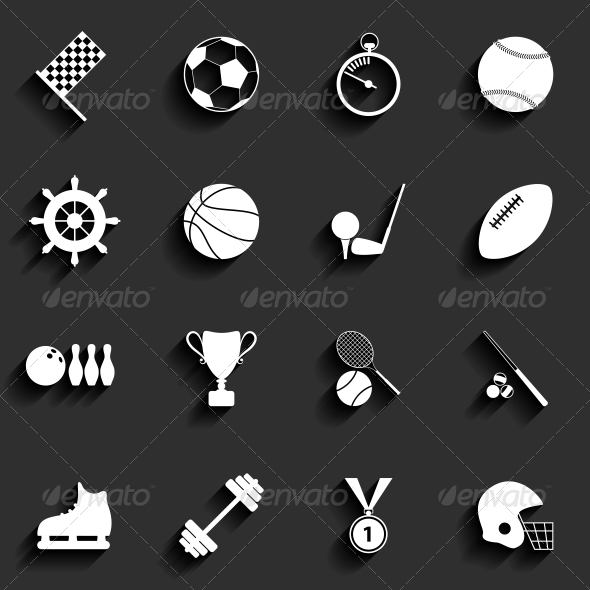 GraphicRiver Set of Sport Icons in Flat Design 6349491