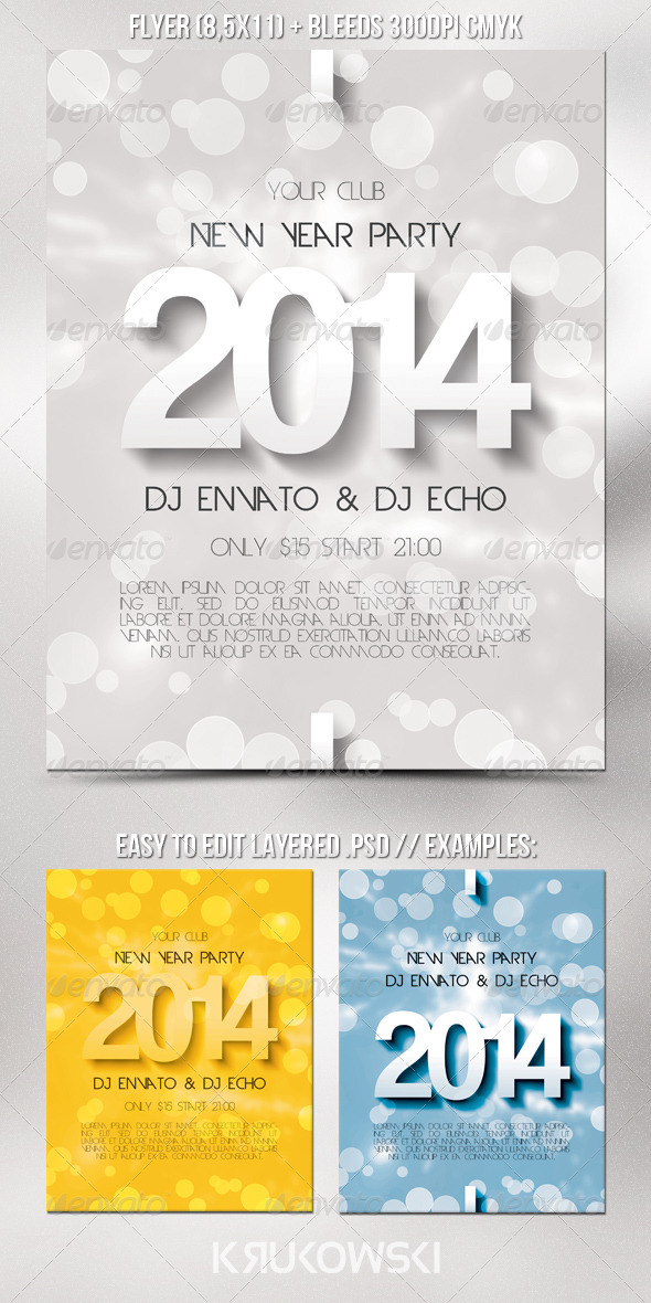GraphicRiver New Year Flyer 6349493