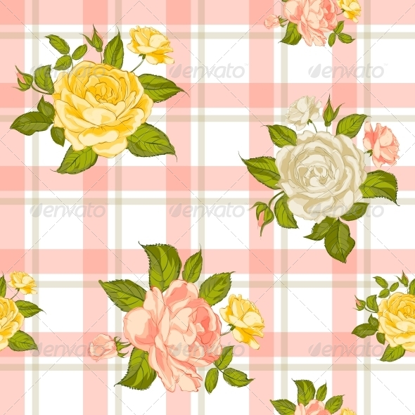 GraphicRiver Seamless Pattern with Roses 6349509