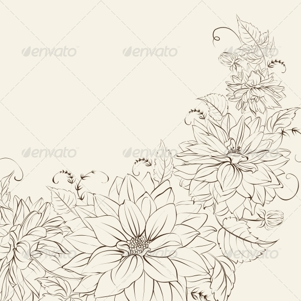 GraphicRiver Garland of Chrysanthemum Isolated 6349533