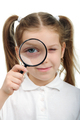 Girl with magnifying glass - PhotoDune Item for Sale