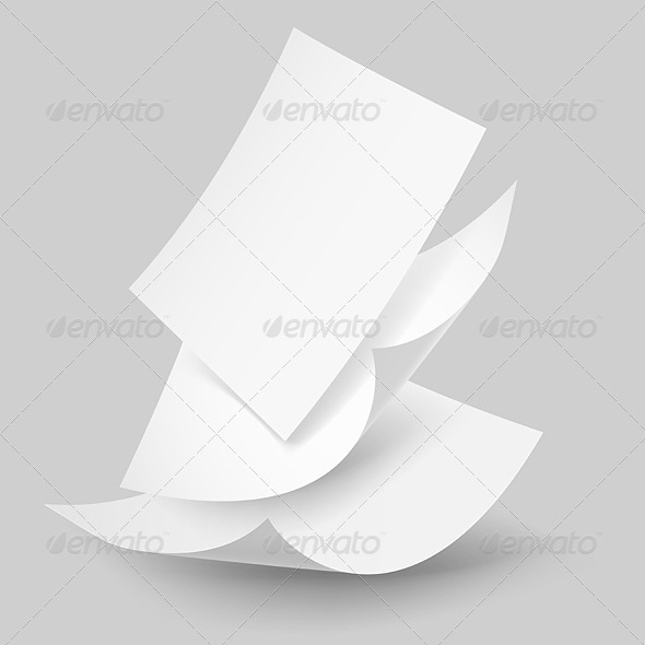 GraphicRiver Falling Paper Sheets 6350152