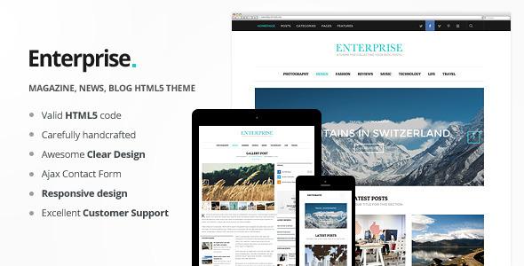 ThemeForest Enterprise Responsive Magazine News Blog 6350153