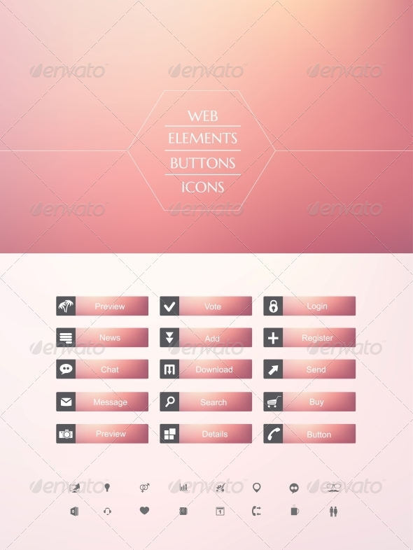 GraphicRiver Set of Buttons 6350423
