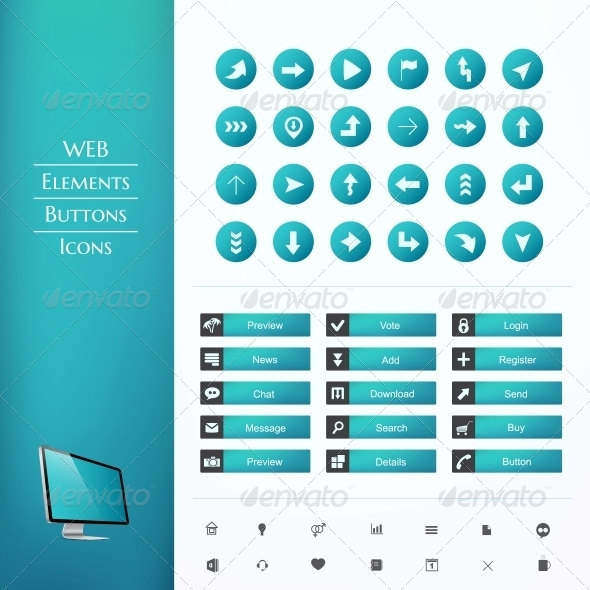 GraphicRiver Set of Buttons and Icons 6350425