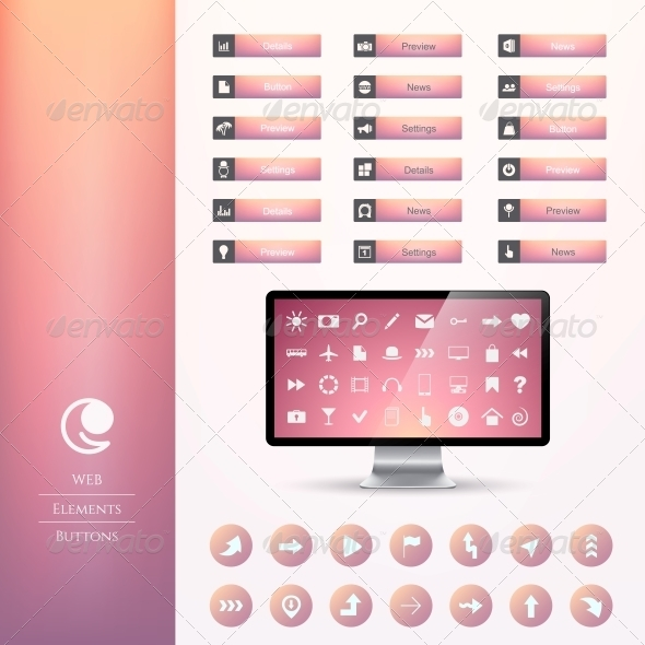 GraphicRiver Set of Buttons 6350432