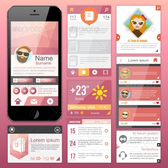 GraphicRiver Flat Web Design 6350484